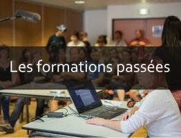 Les formations passées, outils numériques