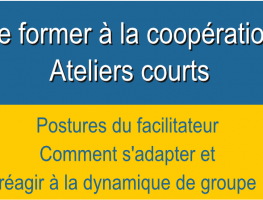 La posture du facilitateur – modules courts –  Formation coopération