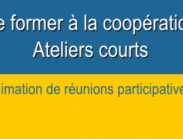 Animation de réunions participatives – modules courts –  Formation coopération